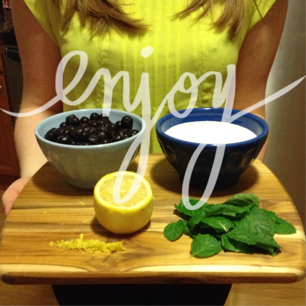 Blueberry Lemon Mint Simple Syrup Recipe