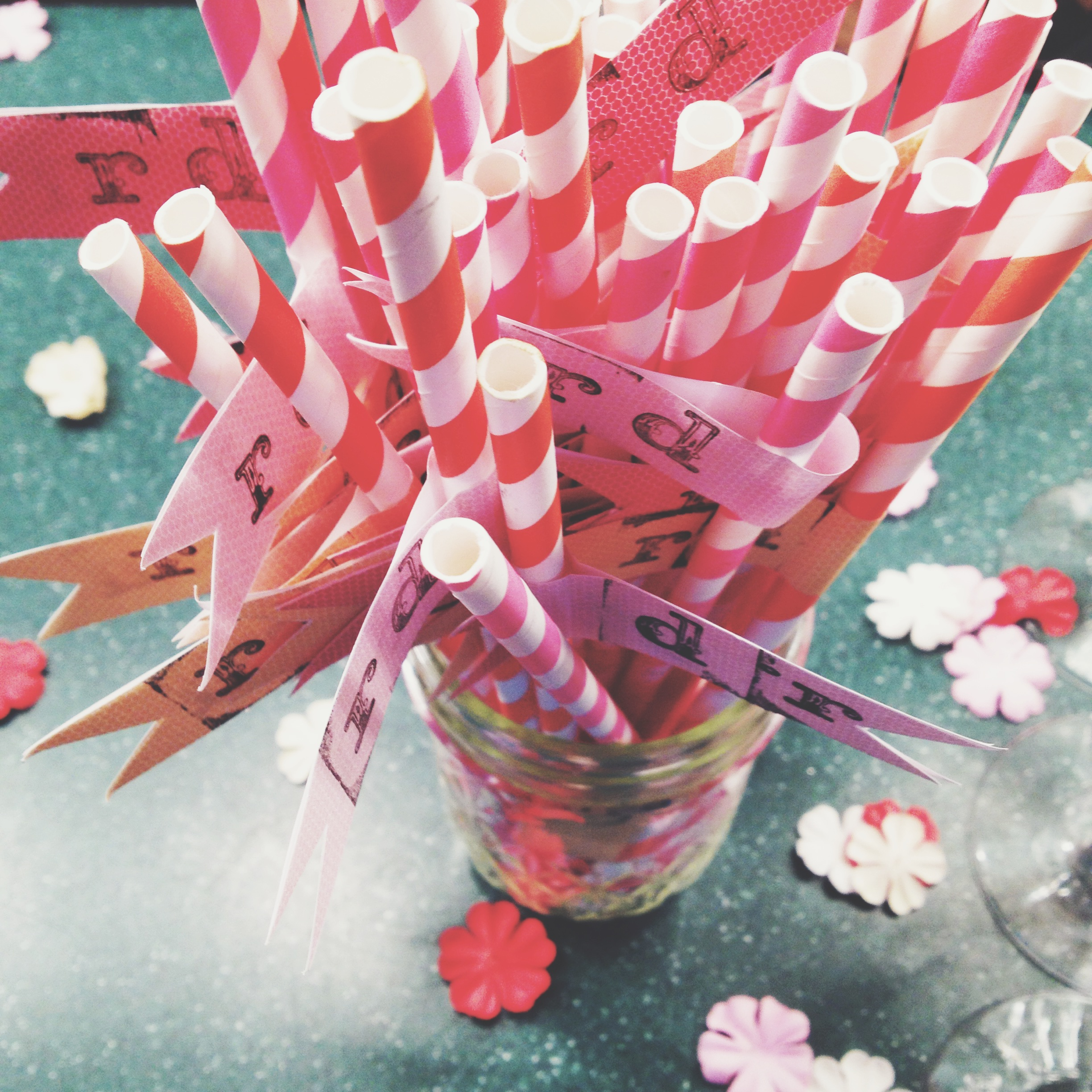 Custom paper straw flags