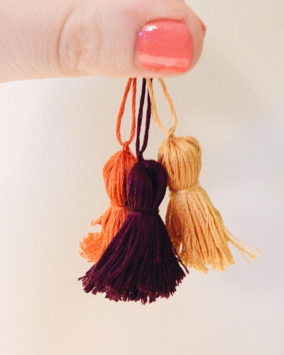 DIY Embroidery Floss Tassels  Musings From Grace
