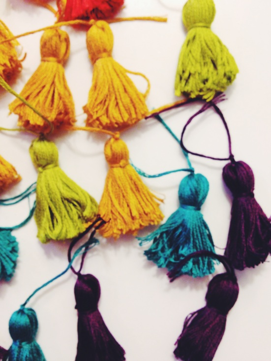 Embroidery Floss Tassels | Musings from Providence