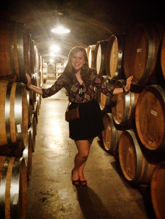Barrels upon barrels of vino
