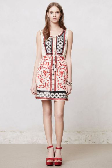 Anthropologie Embroidered