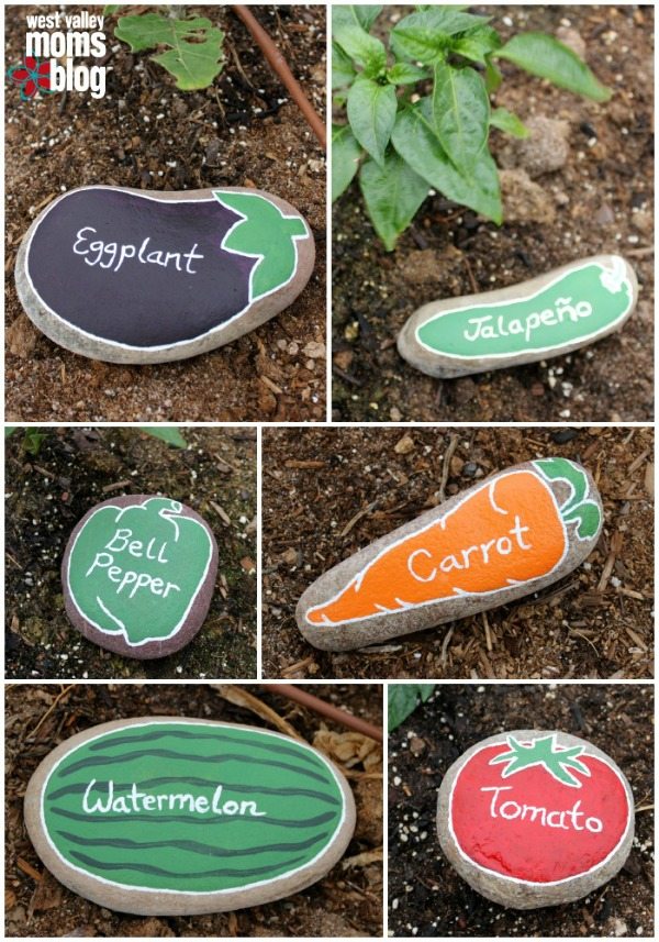 Cute painted rock markers from West Valley Moms