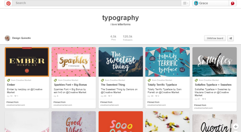 Typography Pinterest