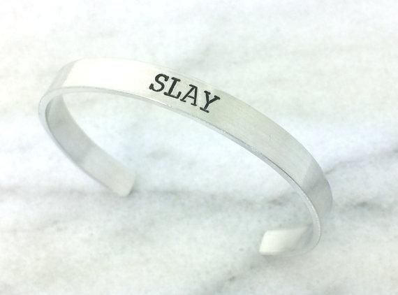 SLAY bracelet from BlockandHammer